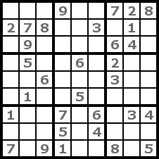 Sudoku Solution Step 1