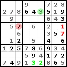 Sudoku Solution Step 7