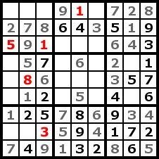 Sudoku Solution Step 8